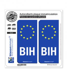 BIH Bosnie-Herzégovine - Identifiant Européen | Autocollant plaque immatriculation