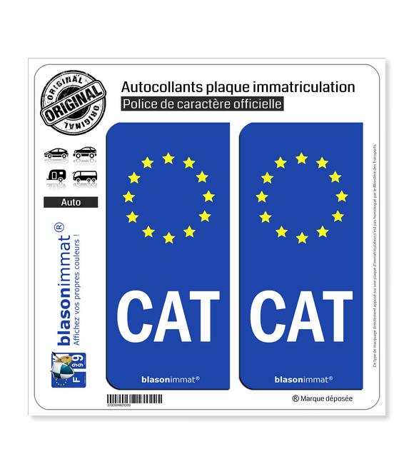 CAT Catalogne - Identifiant Européen | Autocollant plaque immatriculation