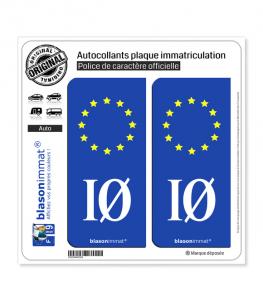 IØ Île d'Oléron - Identifiant Européen | Autocollant plaque immatriculation