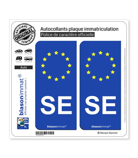 SE Savoie - Identifiant Européen | Autocollant plaque immatriculation
