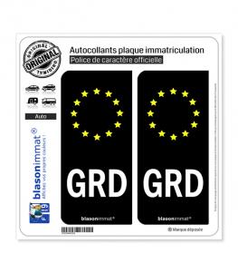 GRD Groland - Identifiant Européen | Autocollant plaque immatriculation