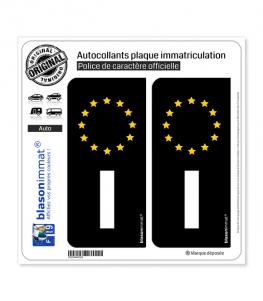 I Italie - Identifiant Européen | Autocollant plaque immatriculation