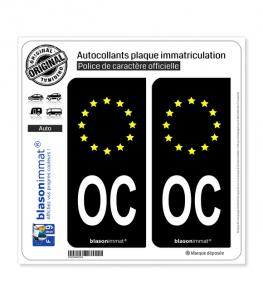 OC Occitanie - Identifiant Européen | Autocollant plaque immatriculation