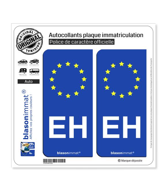 EH Pays Basque - Identifiant Européen | Autocollant plaque immatriculation