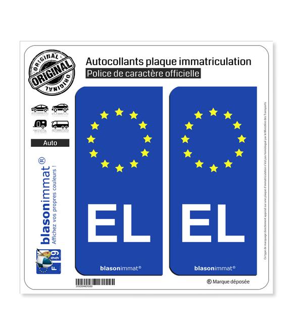 EL Alsace - Identifiant Européen | Autocollant plaque immatriculation