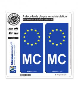 MC Monaco - Identifiant Européen | Autocollant plaque immatriculation