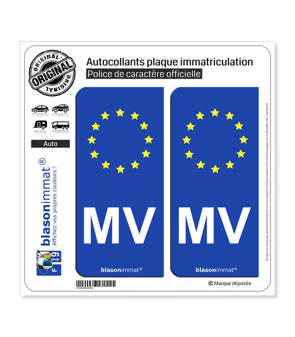 MV Morvan - Identifiant Européen | Autocollant plaque immatriculation