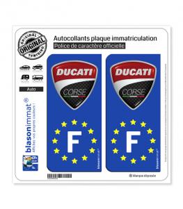 F Ducati Corse - Identifiant Européen | Autocollant plaque immatriculation