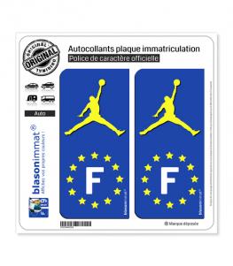 F Jumpman - Identifiant Européen | Autocollant plaque immatriculation