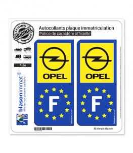 F Opel - Identifiant Européen | Autocollant plaque immatriculation