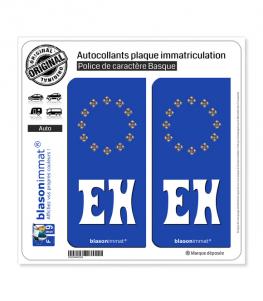 EH Euskal Herria - Identifiant Européen | Autocollant plaque immatriculation