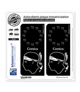 Corsica - Identifiant Européen II | Autocollant plaque immatriculation