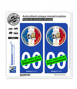 Sapeurs-Pompiers - Macaron | Autocollant plaque immatriculation
