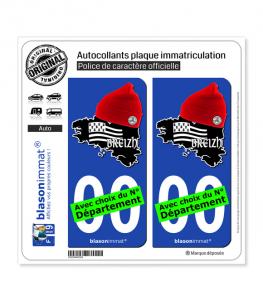 Breizh - Bonnets Rouges | Autocollant plaque immatriculation