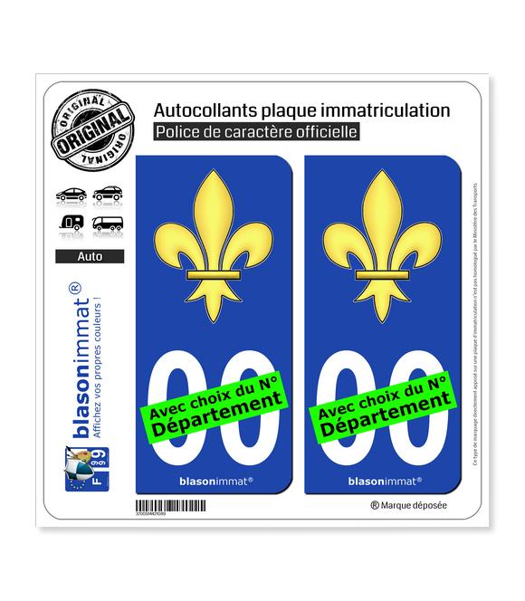 Fleur de Lys | Autocollant plaque immatriculation