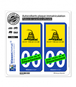 Gadsden - Drapeau | Autocollant plaque immatriculation