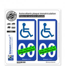Handicap - Accessible | Autocollant plaque immatriculation