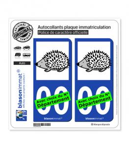 Hérisson | Autocollant plaque immatriculation