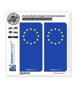 Incognito - Européen | Autocollant plaque immatriculation