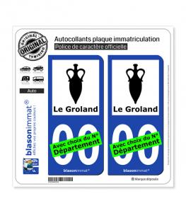 Le Groland - Armoiries | Autocollant plaque immatriculation