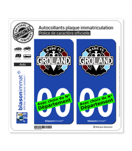 Le Groland - Made in | Autocollant plaque immatriculation