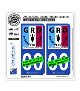 Le Groland - Mourir pour toi | Autocollant plaque immatriculation