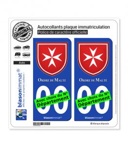 Ordre de Malte - Emblème | Autocollant plaque immatriculation