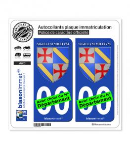 Ordre du Temple - Jacques de Molay | Autocollant plaque immatriculation