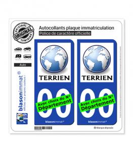 Terrien | Autocollant plaque immatriculation