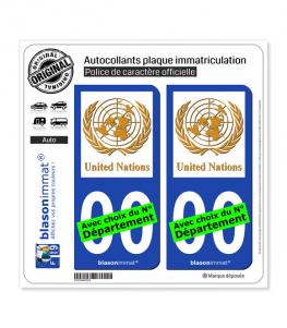 United Nations   Autocollant plaque immatriculation