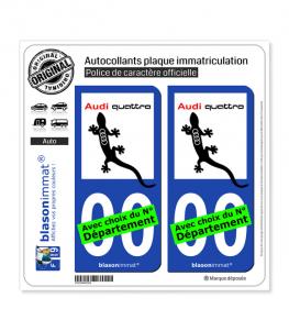 Audi - 30 ans Quattro | Autocollant plaque immatriculation
