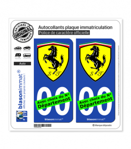Ferrari - Blason | Autocollant plaque immatriculation