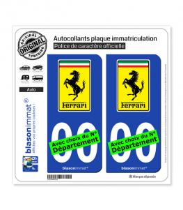 Ferrari - Macaron | Autocollant plaque immatriculation