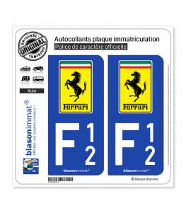 F12 Ferrari - Macaron | Autocollant plaque immatriculation
