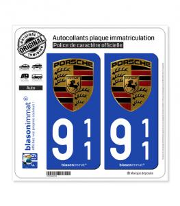 911 Porsche | Autocollant plaque immatriculation