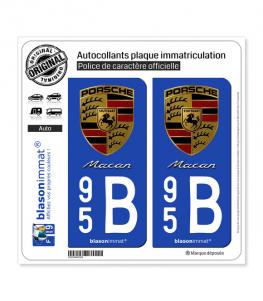 95B Porsche - Macan | Autocollant plaque immatriculation