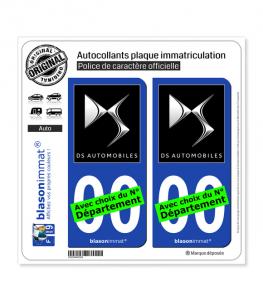 DS Automobiles - Black | Autocollant plaque immatriculation