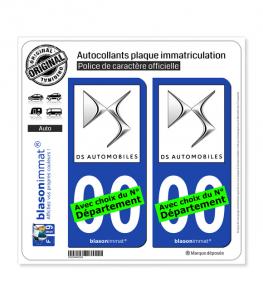 DS Automobiles | Autocollant plaque immatriculation