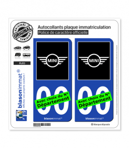 Mini | Autocollant plaque immatriculation