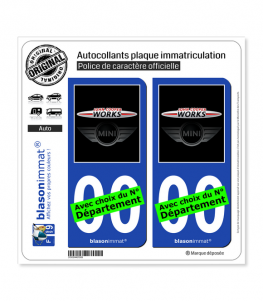 Mini - John Cooper Works | Autocollant plaque immatriculation