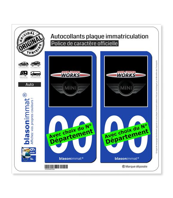 Mini - John Cooper Works | Autocollant plaque immatriculation