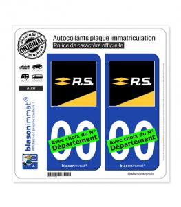 Renault - Sport | Autocollant plaque immatriculation