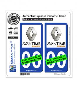 Renault - Avantime | Autocollant plaque immatriculation