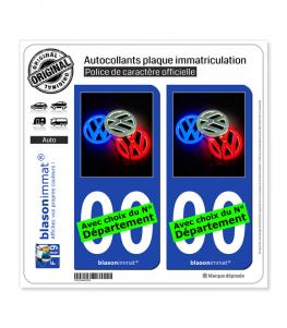 Volkswagen - Trio | Autocollant plaque immatriculation