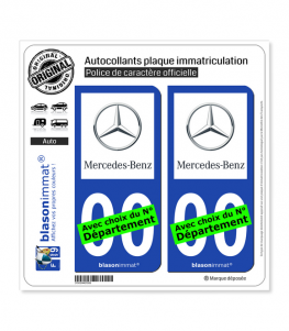 Mercedes-Benz | Autocollant plaque immatriculation
