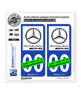 Mercedes-Benz - AMG | Autocollant plaque immatriculation