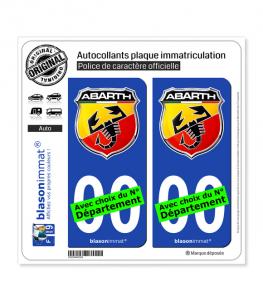 Abarth - Blason | Autocollant plaque immatriculation