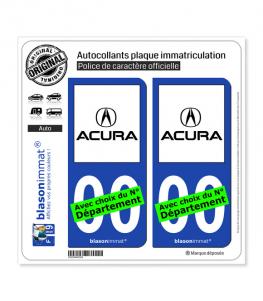 Acura | Autocollant plaque immatriculation