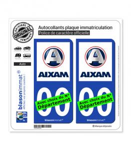 Aixam | Autocollant plaque immatriculation
