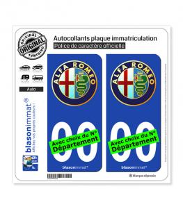 Alfa Romeo | Autocollant plaque immatriculation